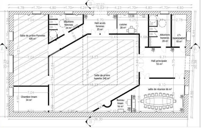 Centre culturel et cultuel cognac bym architecte for Plan de cognac