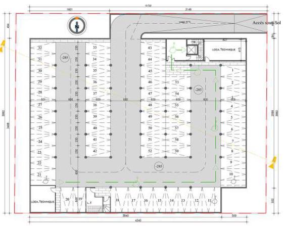 Centre culturel et cultuel montfermeil bym architecte for Plan sous sol